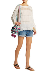 M Missoni Raffia pompom-embellished shoulder bag