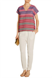 M Missoni Embroidered cotton-blend top
