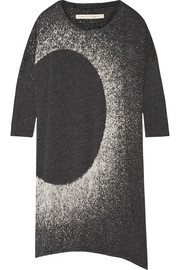 Raquel Allegra Oversized printed cotton-blend jersey mini dress