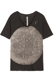 Raquel Allegra Printed cotton-blend jersey T-Shirt