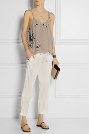 Raquel Allegra Cropped woven tapered pants