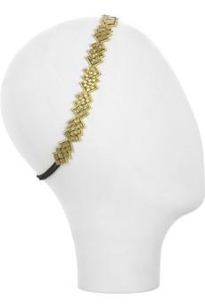 Deepa GurnaniBeveled beaded hairband