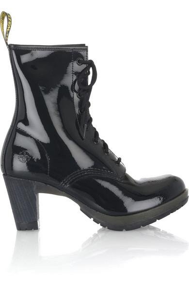Dr martens diva patent leather boots net a porter com - Dr martens diva ...