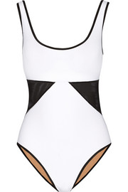 Powernet mesh-paneled underwired swimsuit