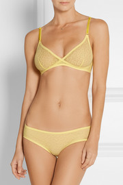 Lily stretch-mesh soft-cup triangle bra