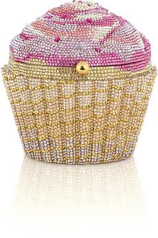 Judith LeiberCupcake crystal-embellished clutch