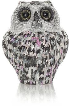 Judith LeiberOwl crystal-embellished clutch