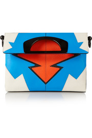 Christian Louboutin Passage color-block textured-leather tote