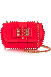 Sweety Charity neon mini spiked patent-leather shoulder bag