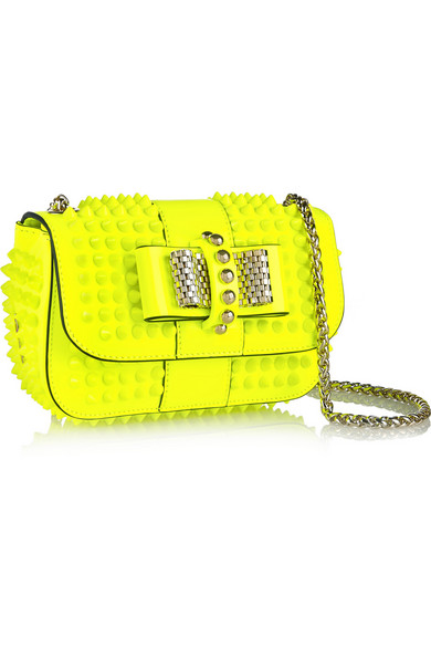 ed4e749c5e0 Sweety Charity mini spiked neon patent-leather shoulder bag