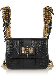Christian Louboutin Sweety Charity mini watersnake and leather backpack