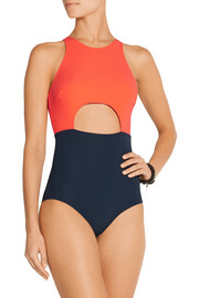 Flagpole Swim Vera cutout two-tone swimsuit