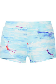 Jensen printed tech-jersey shorts