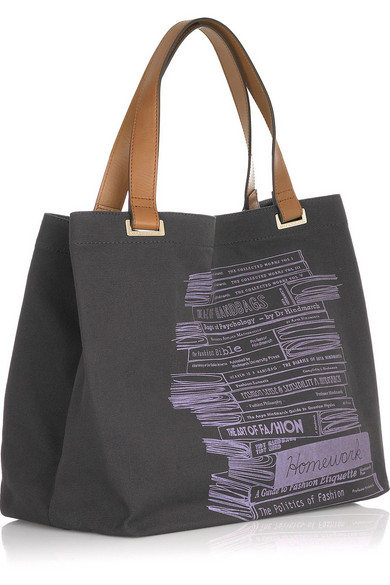 anya hindmarch canvas homework tote bag
