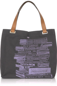 Anya Hindmarch | Homework canvas tote | NET-A-PORTER.COM