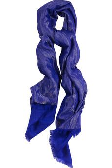 Tara Matthews|Cashmere-blend metallic scarf|NET-A-PORTER.COM :  netaportercom cashmereblend metallic scarf designer fashion tara matthews