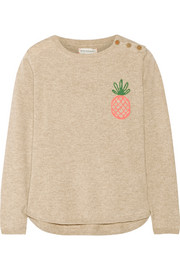 Pineapple-intarsia cashmere sweater