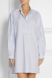Long striped cotton Oxford nightshirt