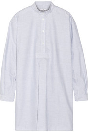 The Sleep Shirt Long striped cotton Oxford nightshirt