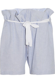 The Sleep Shirt Fisherman's striped cotton pajama shorts