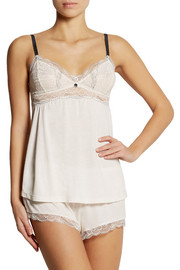 Eberjey Joey lace-trimmed jersey pajama top