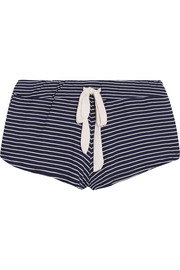Striped stretch-jersey pajama shorts