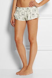 Pattern Play printed stretch-jersey pajama shorts