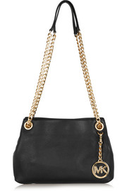 Jet Set Messenger medium textured-leather shoulder bag