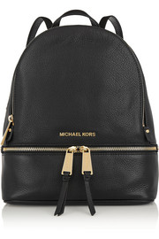MICHAEL Michael Kors Rhea textured-leather backpack