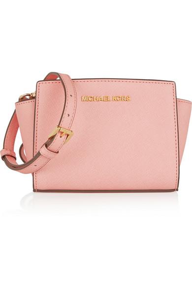 dd65e5e6514b MICHAEL Michael Kors | Selma mini textured-leather shoulder bag ...