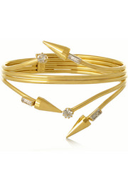 Fallen Angel gold-plated Swarovski crystal bracelet