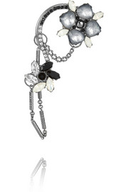 Adele palladium-plated Swarovski crystal ear cuff