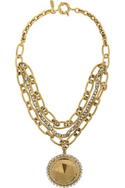 VICKISARGE Gold-plated Swarovski crystal necklace