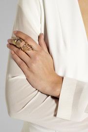 VICKISARGE Fallen Angel gold-plated Swarovski crystal ring