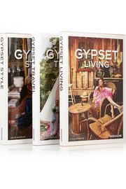 Set of three hardcover books: Gypset Travel, Gypset Living & Gypset Style