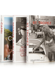 Set of three hardcover books: In the Spirit of Monte Carlo, Capri & St. Tropez