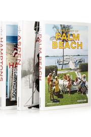 Assouline Set of three hardcover books: In The Spirit of the Hamptons, Aspen & Palm Beach