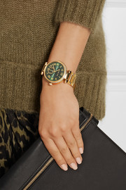 Skylar crystal-embellished gold-tone watch
