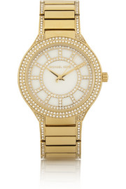 Kerry crystal-embellished gold-tone watch