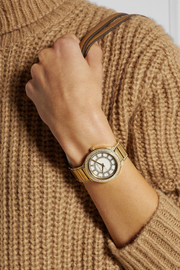 Michael Kors Kerry crystal-embellished gold-tone watch