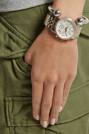 Michael Kors Ritz Swarovski crystal-embellished stainless steel watch