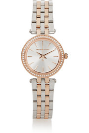 Michael Kors Darci stainless steel and rose gold-tone watch
