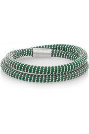 Carolina Bucci NSPCC Double Twister sterling silver and silk wrap bracelet