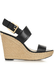 Poesy leather wedge espadrilles