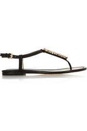 Jayden crystal-embellished leather sandals