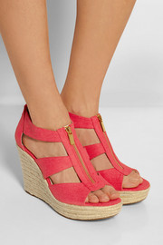 Damita canvas wedge sandals