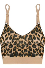 Messina leopard-print stretch-bamboo soft-cup bra