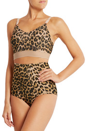 Ravenna high-rise leopard-print stretch-bamboo briefs