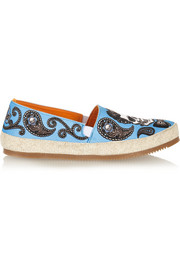 + MULO x David Kafri printed cotton-canvas espadrilles