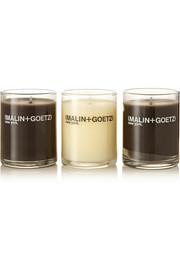 Malin + Goetz Holiday 2014 Votive set of three candles